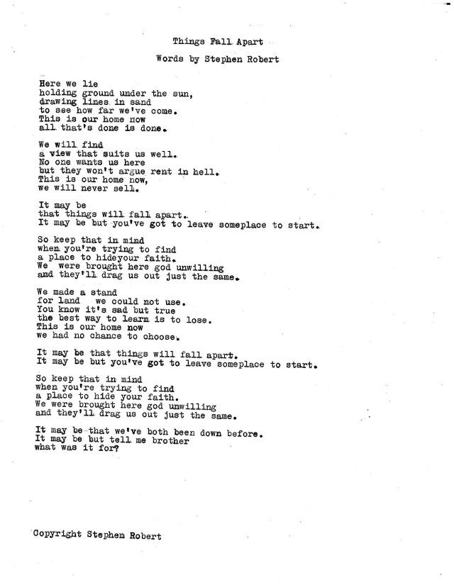 lyrics | Stephen Robert